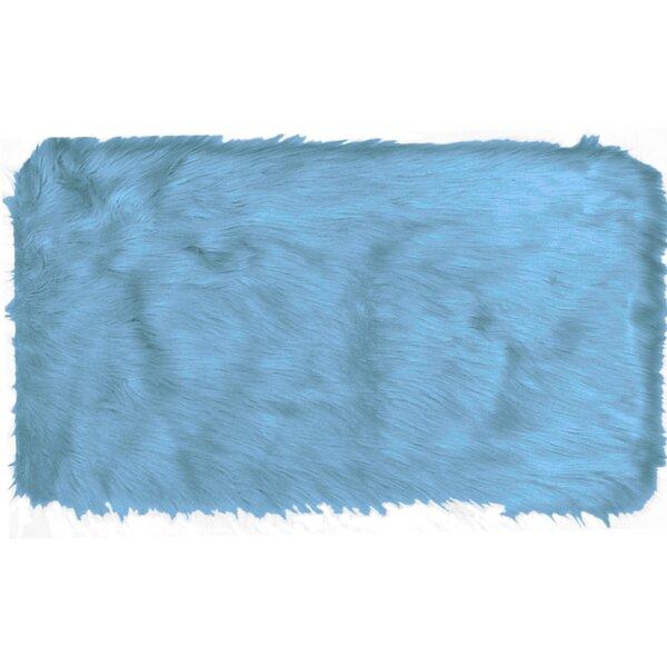 Chantay Faux Fur Blue Area Rug by Willa Arlo Interiors
