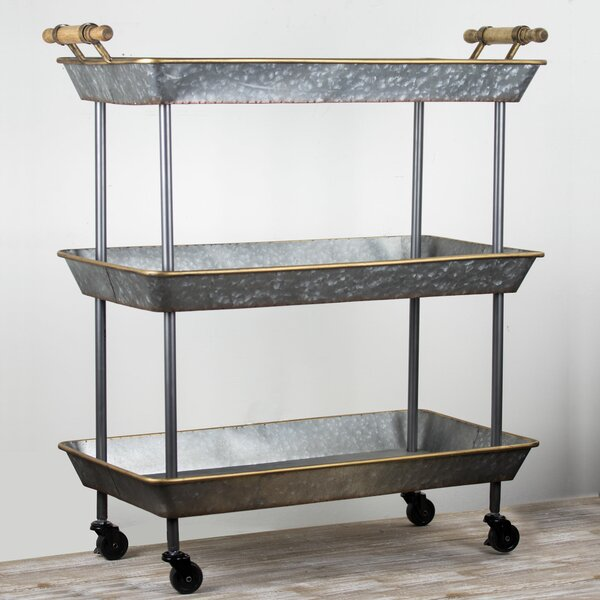 Lurie 3 Tier On Wheels Bar Cart By Gracie Oaks