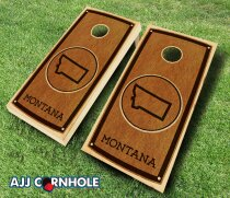 Montana Stained 10 Piece Cornhole Set by AJJ Cornhole