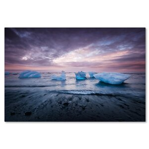 Cold Evening in Iceland by Philippe Sainte-Laudy Photographic Print on Wrapped Canvas by Trademark Fine Art