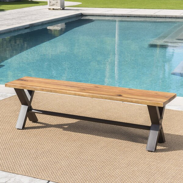 Polito Outdoor Wooden Picnic Bench by 17 Stories 17 Stories