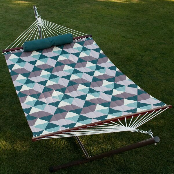 Fennell Quilted Hammock with Stand by Wrought Studio