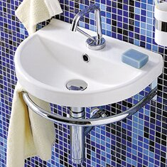 China Series Ceramic 18 Wall Mount Bathroom Sink with Overflow by Whitehaus Collection
