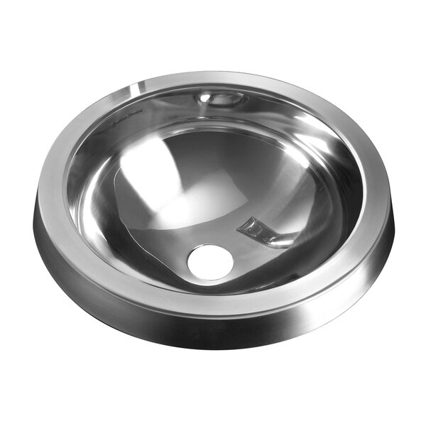 Prevoir Metal Circular Undermount Bathroom Sink with Overflow by American Standard