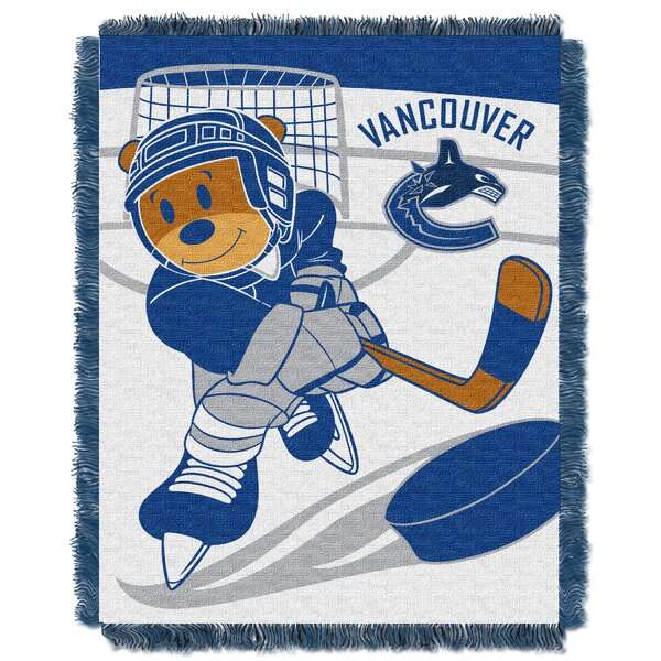 NHL Canucks Baby Woven Throw Blanket by Northwest Co.