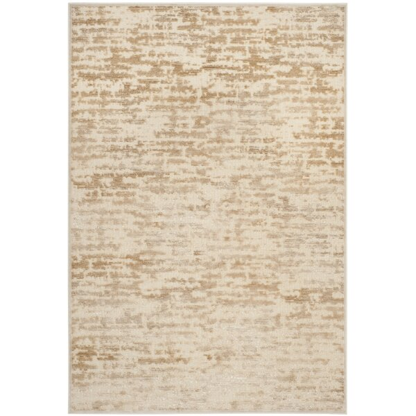 Lindsay Silk Stone/Cream Area Rug by Safavieh