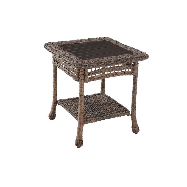 Elvin Rattan Side Table by Bay Isle Home
