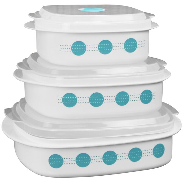 South Beach Microwave Cookware 3-Container Food Storage Set by Corelle