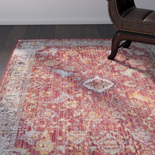 Amiens Rose Area Rug by World Menagerie