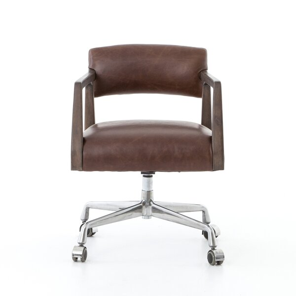 Evelyn Genuine Leather Office Chair by Foundry Select