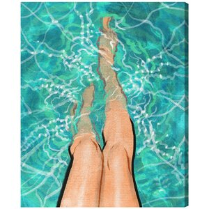 Summer Legs Painting Print on Wrapped Canvas by Mercer41