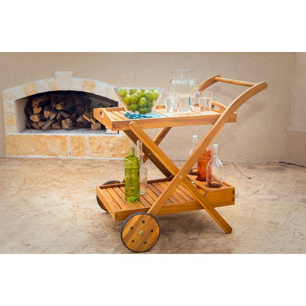 Borica Beverage Bar Cart by Loon Peak