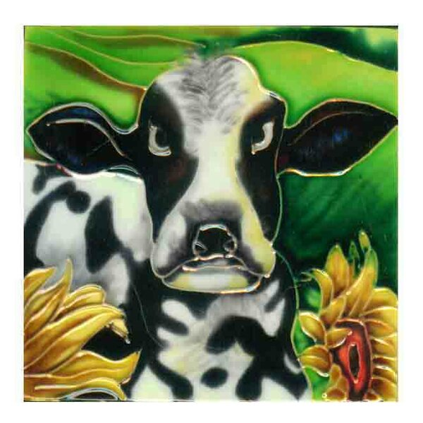 Cow Tile Wall Decor by Continental Art Center