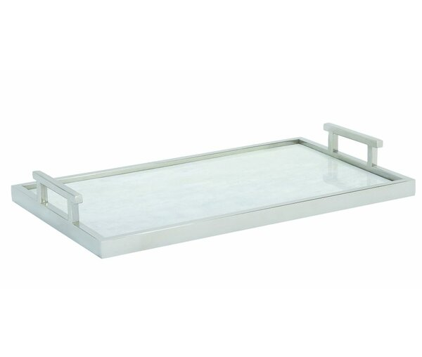 Stainless Steel and Marble Tray by Cole & Grey
