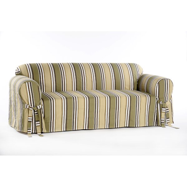 Box Cushion Sofa Slipcover by Beachcrest Home