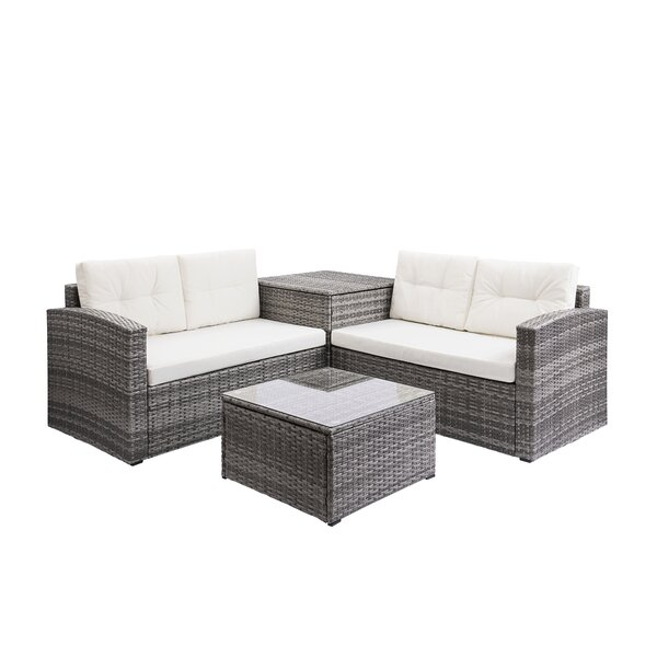 4 Piece Rattan Sofa Seating Group With Storage Box by Ebern Designs