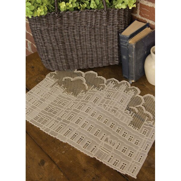 Downton Abbey British Highclere Castle Decorative Lace Table Placemat (Set of 4) by Northlight Seasonal