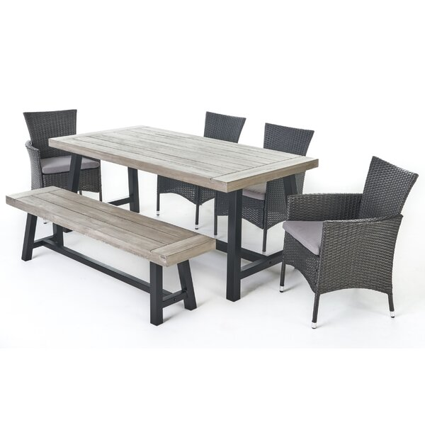 Matos 6 Piece Dining Set with Cushions by Ivy Bronx