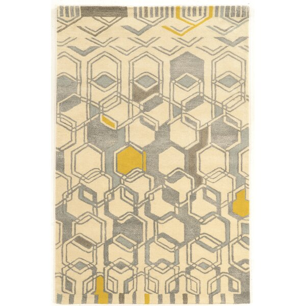 Bushwick Hand-Tufted Beige/Gray Area Rug by Wrought Studio