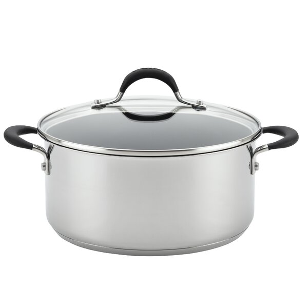 Momentum™ 5-Quart Covered Stainless Steel Non-Stick Round Dutch Oven with Lid by Circulon