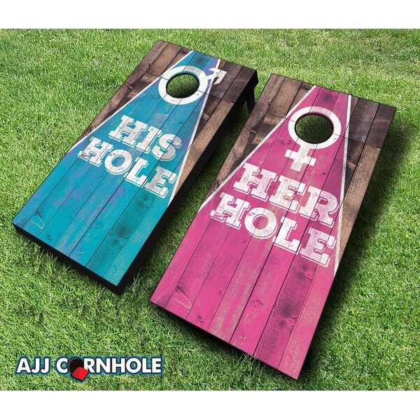 His and Her Cornhole Set by AJJ Cornhole