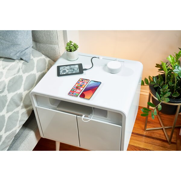 Sobro Smart End Table with Built-In Outlets by Sobro Sobro