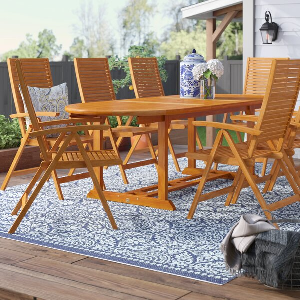 Cadsden 9 Piece Extendable Dining Set by Three Posts