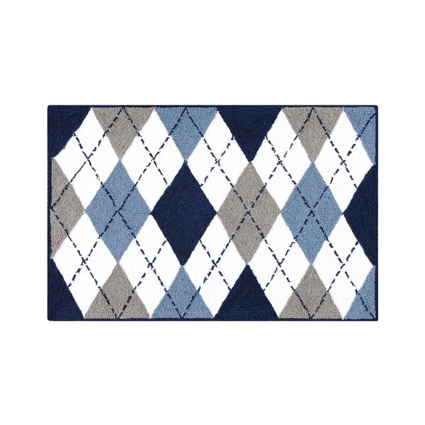 Hegwood Argyle Blue Area Rug by Winston Porter