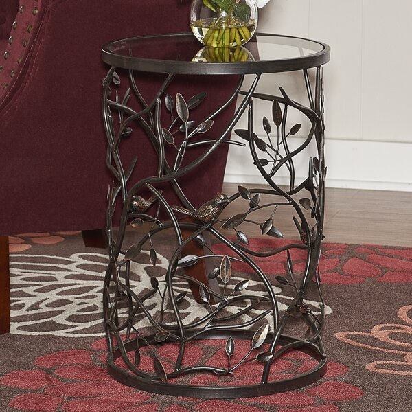 Perley Bird and Branch End Table by Red Barrel Studio