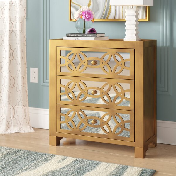 Best Reviews Elkton 3 Drawer Accent Chest by House of Hampton