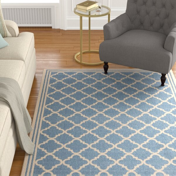 Sherell Blue/Creme Area Rug by Darby Home Co