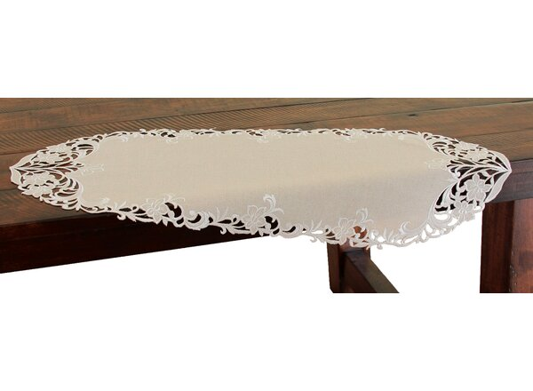 Meadow Embroidered Cutwork Mini Table Runner by Xia Home Fashions