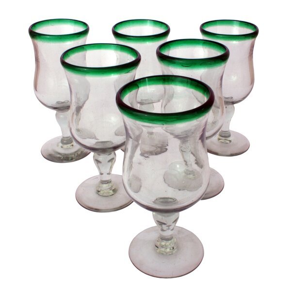 Javier and Efren Caribbean Pina Colada Glass (Set of 6) by Novica