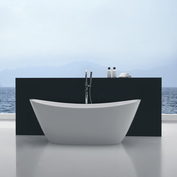 Cross Series 67'' x 26.7'' Freestanding Soaking Bathtub by ANZZI