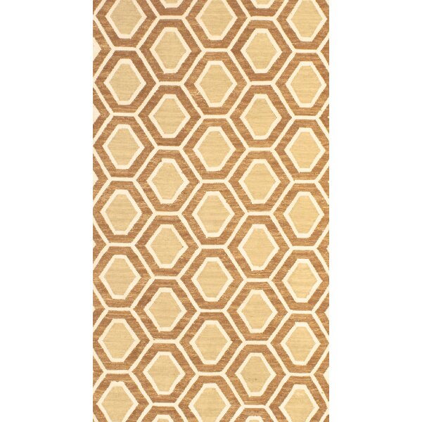 Flat Weave Beige/Tan Area Rug by Pasargad NY