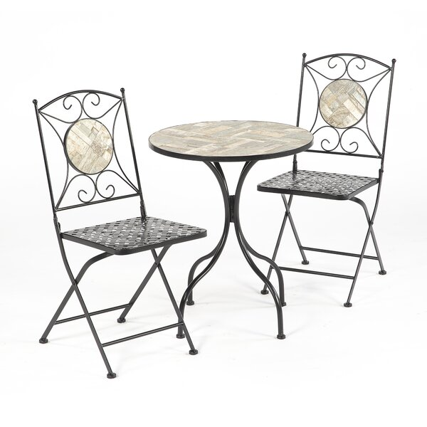 Emblyn Mosiac Tile 3 Piece Bistro Set by Fleur De Lis Living