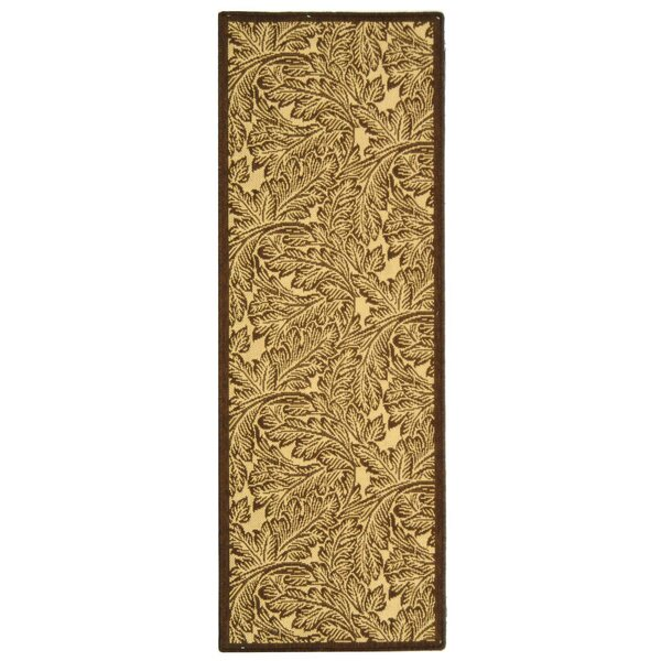 Amaryllis Natural/Brown Outdoor Area Rug by Bay Isle Home