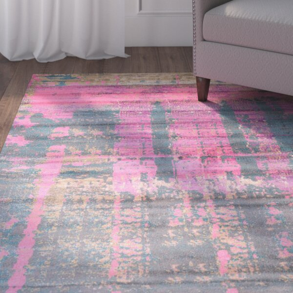 Coakley Pink Area Rug by Mercury Row