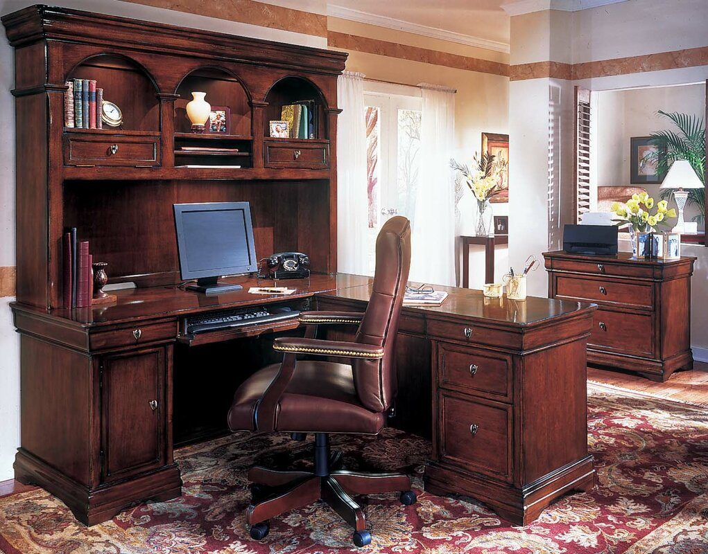 Flannagan 3-Piece L-Shape Executive Desk Office Suite