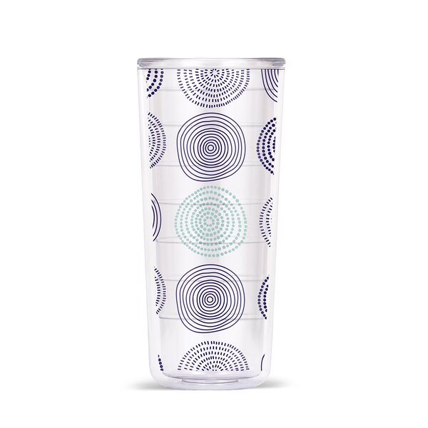 Ingraham Stripes & Spirals 18oz Double Wall Tritan Travel Tumbler (Set of 4) by Latitude Run