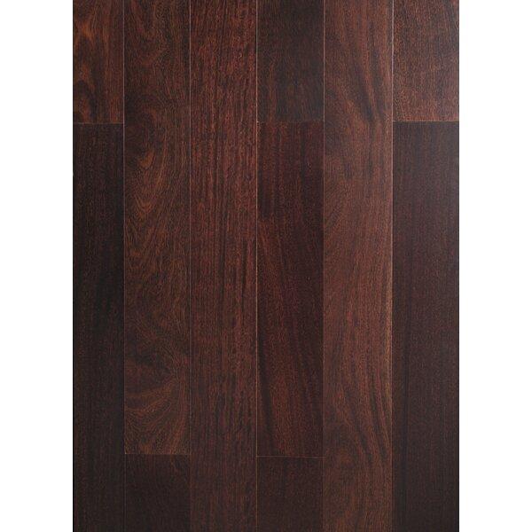 Ashton 5 Solid Teak Hardwood Flooring in Espresso by Welles Hardwood