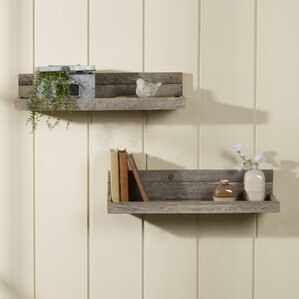 Floting Shelves rectangle floating shelf | wayfair
