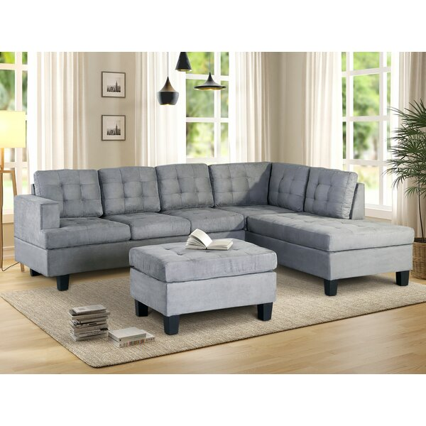 Gabby Right Hand Facing Sectional With Ottoman By Latitude Run