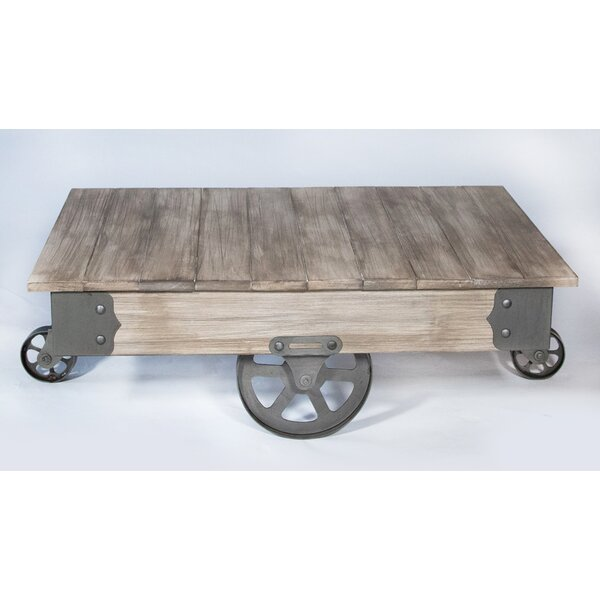 Vintage Center Coffee Table with Wheels by REZ Furniture