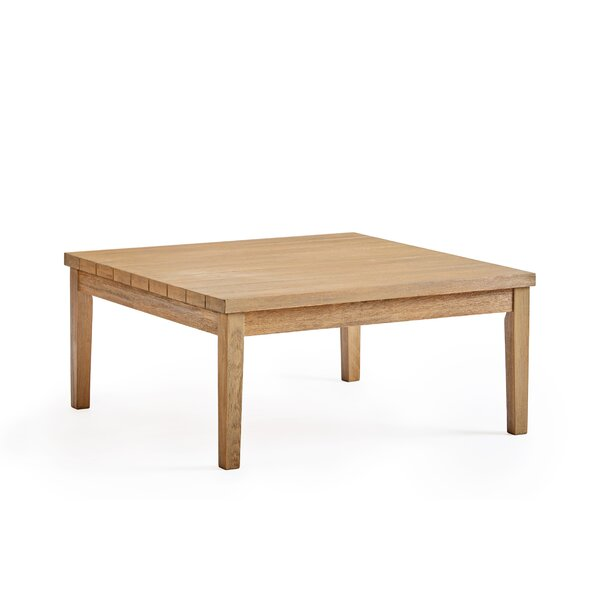 Darnell Patio Wooden Coffee Table by Rosecliff Heights