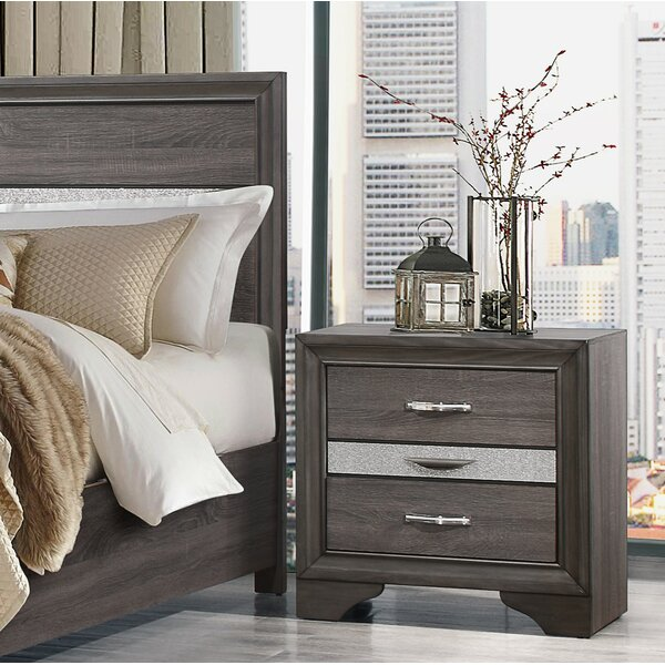 Cave Spring 3 Drawer Nightstand by Everly Quinn