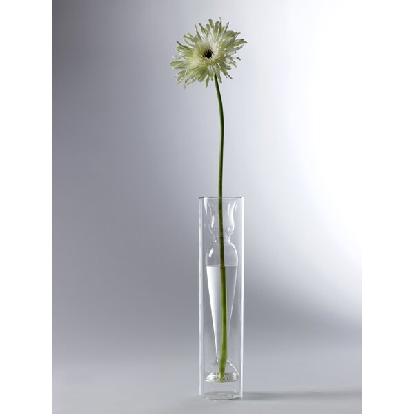 Boyd Slim Table Vase in Tube by Charlton Home
