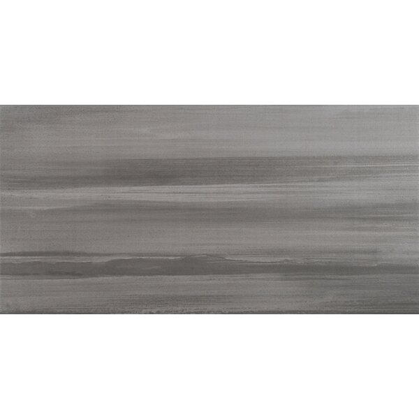 Watercolor Graphite 12 x 24 Porcelain Wood Look/Field Tile in Gray by MSI