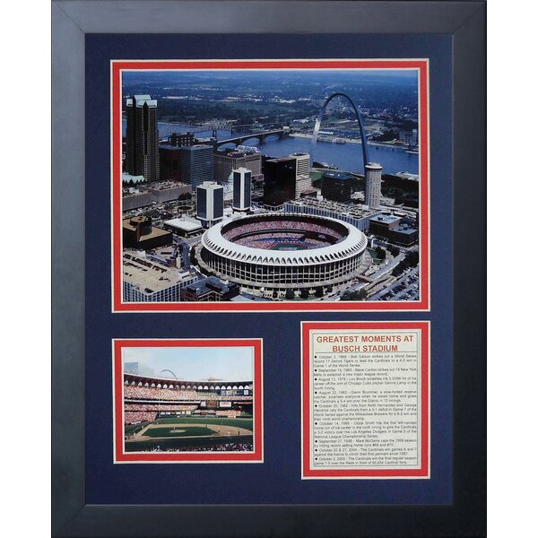 St. Louis Cardinals - Old Aerial Framed Memorabili by Legends Never Die