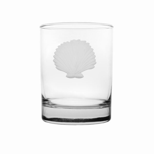 Seashell Double Old Fashioned Glass (Set of 4) by Rolf Glass